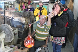 (I got to blow Hebron glass)