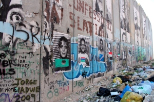 Separation Wall in Bethlehem (where Palestinians cannot cross from the West Bank to Israel without a visa)