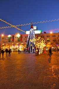 Photo taken in downtown Bethlehem on Jan. 6: Celebrating the Orthodox Christmas (Emily Heitzman
