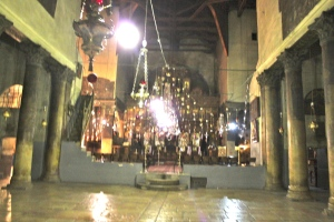 Photo taken in the Church of the Nativity in Bethlehem (Emily Heitzman)