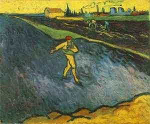 """The Sower: Outskirts of Arles in the Background"" by Vincent Van Gogh, 1888 (The Armand Hammer Museum of Art, Los Angeles)"